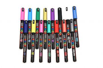 POSCA MARKER PENS PC-1MR by Uni-Ball FULL Range Available - PACKS OF 12
